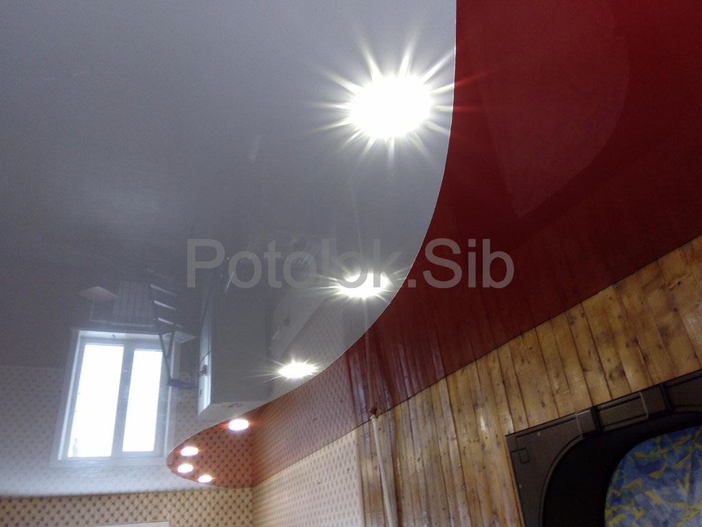 Натяжной потолок со спайкой   Комната