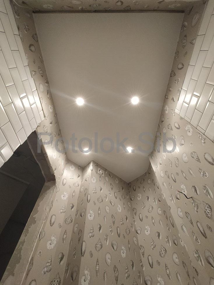 Матовый и сатиновый натяжные потолки | Санузел