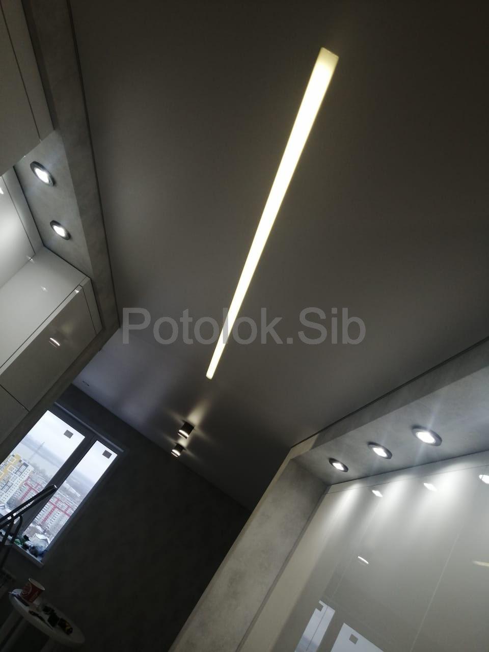 Матовый и сатиновый натяжные потолки | Гостиная